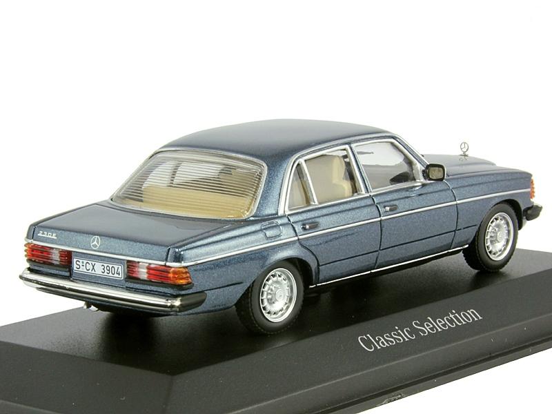 1 43 mercedes benz 230 e w123 lapis blue for Miniature mercedes benz models