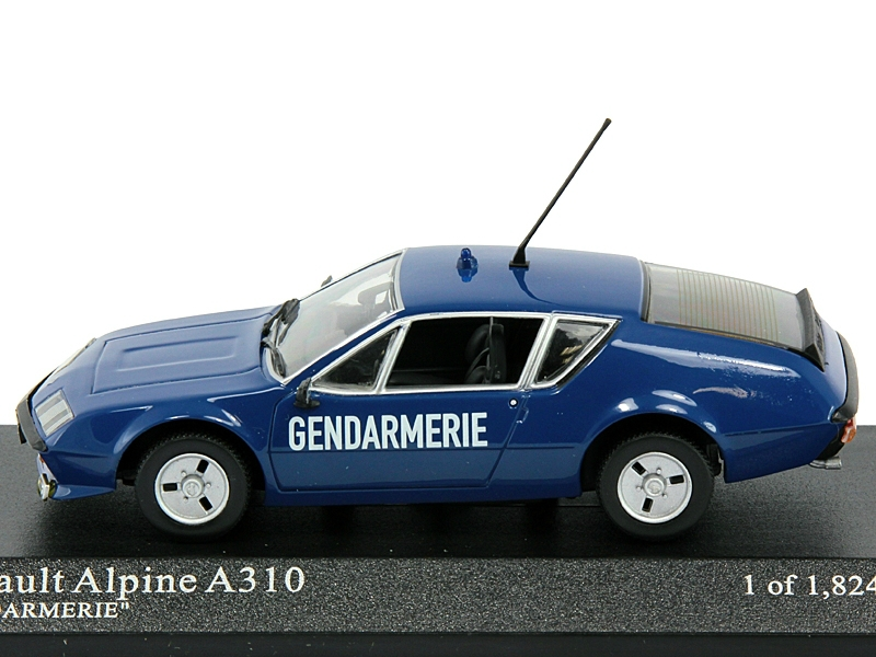 1 43 renault alpine a310 coupe gendarmerie. Black Bedroom Furniture Sets. Home Design Ideas