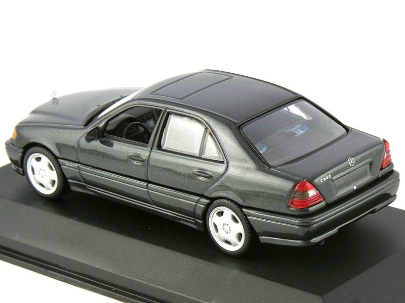 1 43 mercedes benz c220 w202 1993 blue black amg wheels for Miniature mercedes benz models