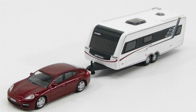 Porsche Panamera Caravan >> 1:87 Porsche Panamera with Hymer Caravan