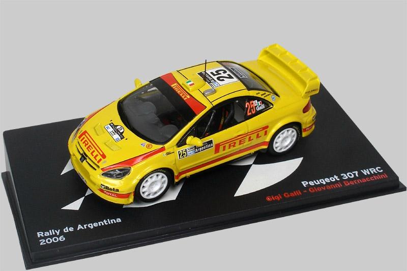 IXO ALTAYA PEUGEOT 307 WRC #25 RALLY ARGENTINA 2006 1//43