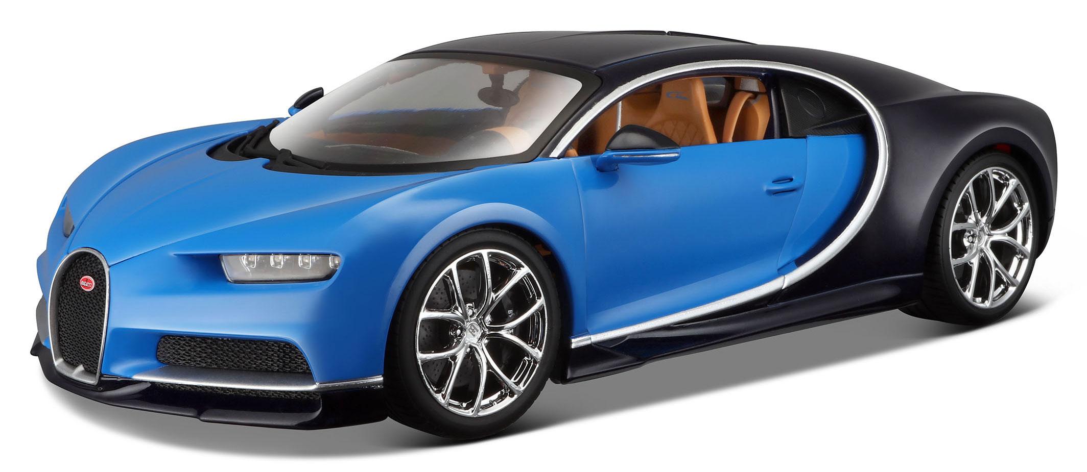 1 18 bugatti chiron blue black. Black Bedroom Furniture Sets. Home Design Ideas
