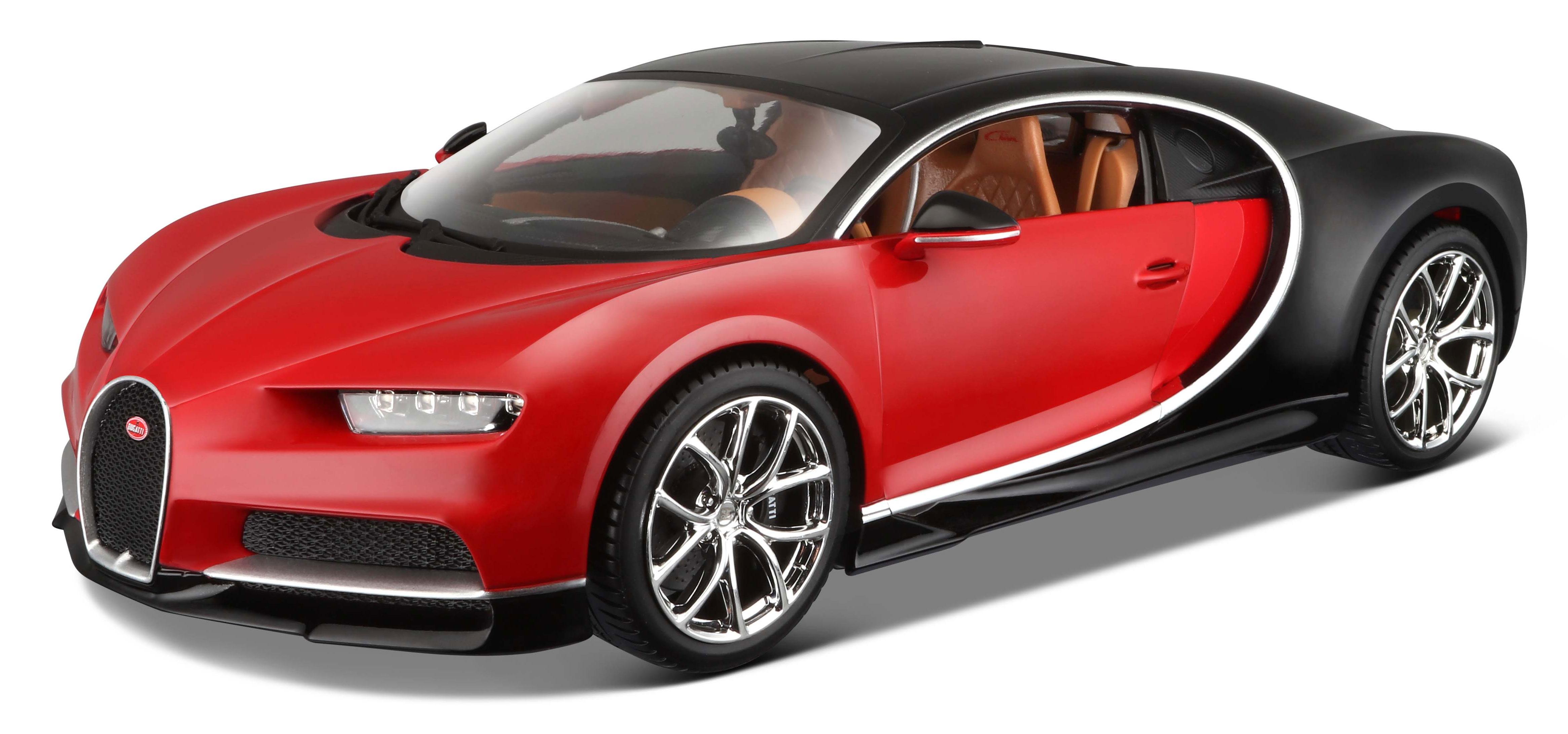 1 18 bugatti chiron red black. Black Bedroom Furniture Sets. Home Design Ideas