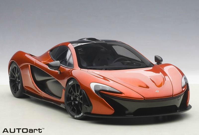 1 18 mclaren p1 hybrid supercar volcano orange. Black Bedroom Furniture Sets. Home Design Ideas