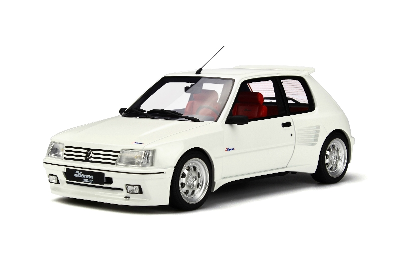 1 18 peugeot 205 1 9 gti dimma design tuning wide kit white