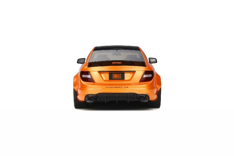 1:18 Mercedes-Benz C63 AMG W204 Liberty Walk LB Works Tuning Orange