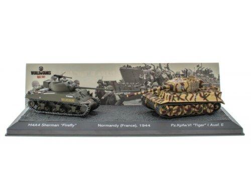 La batalla de Normandía 1944 M4A4 Sherman Firefly V pzkpfwvi Tiger I Francia