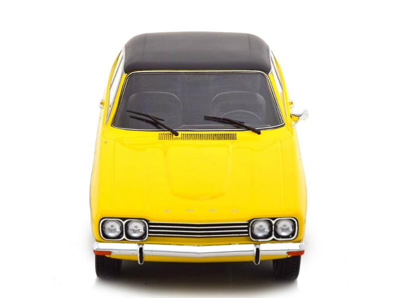Modell Auto 1:18 Ford Capri MKI 2000 GXL gelb//schwarz 1973  MCG 18085