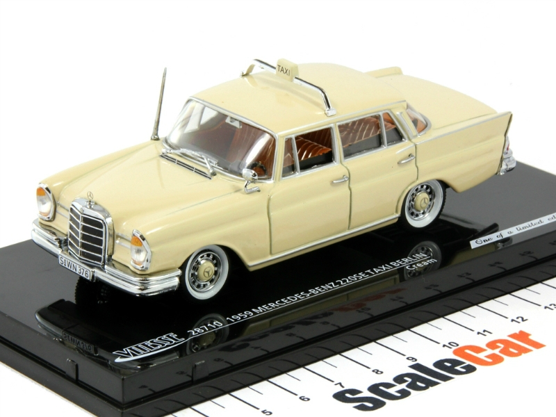 1 43 mercedes benz 220 se w111 heckflosse 1959 taxi berlin for Mercedes benz 400 se