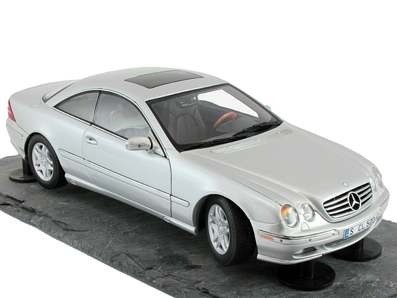 1 18 mercedes benz cl coupe 1999 c215 w215 silver on. Black Bedroom Furniture Sets. Home Design Ideas