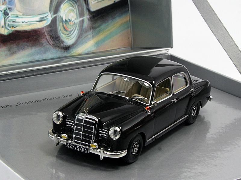 1 43 mercedes benz 180 ponton w120 1953 brown for Miniature mercedes benz models