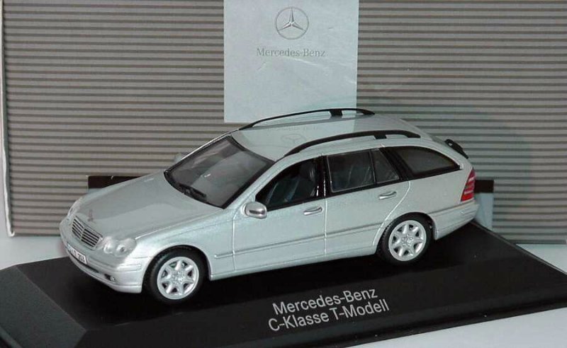 1 43 mercedes benz c class t modell w203 s203 2001 silver for Mercedes benz c class t model